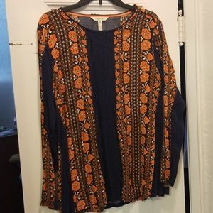 Matilda Jane VGUC Sz XL Fall Blouse